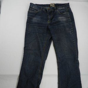 E2 by Jou Jou Women's Jeans Blue Stretch Waist Zip
